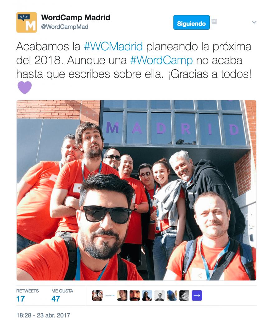 Despedida WordCamp Madrid 2017