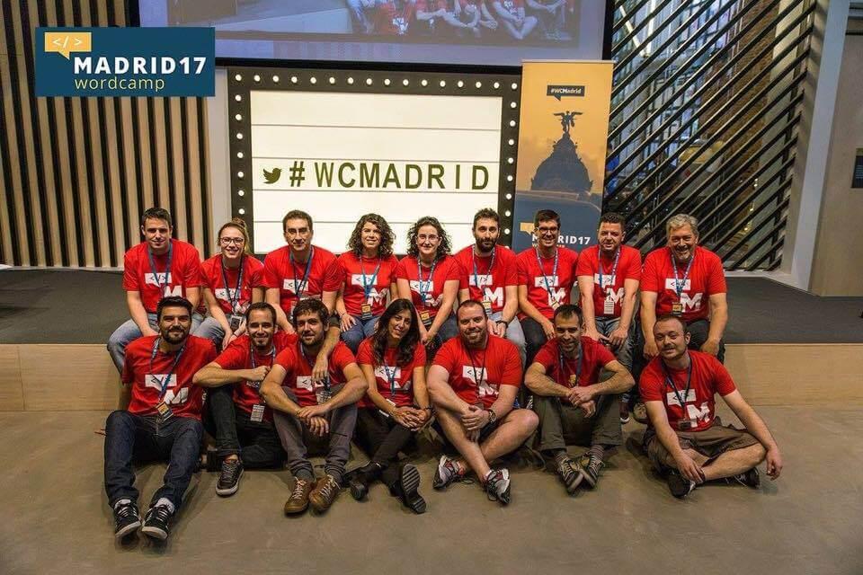 Organizadores y voluntarios WordCamp Madrid 2017