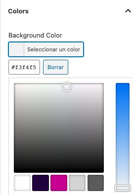 Selector de color ACF modificado