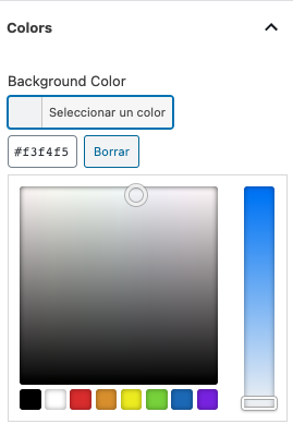 Selector de color ACF